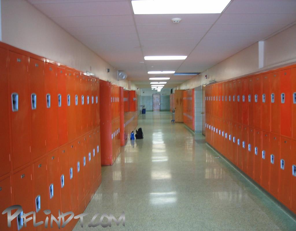 how to draw a high school hallway